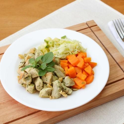 Frango ao Pesto, Mix  de Legumes e Arroz Integral  (não disponível)