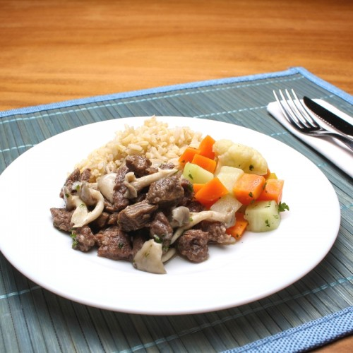 Carne com Shimeji (somente proteína)